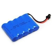 1-5Pack 6V 1400mAh RC batterie ni-cd batterie pour voiture jouet Rechargeable SM 2Pin Plug AA batterie Rechargeable