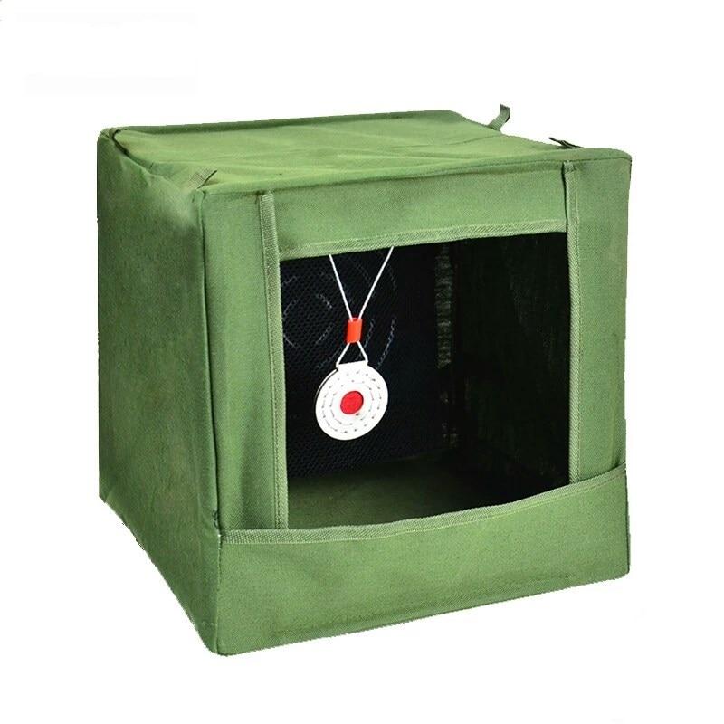 Neue Slingshot Ziel Box Nylon Tuch Schleuder Ziel Box Recycle Ammo Bogenschießen Jagd Katapult Fall Halter Für Praxis Ziel