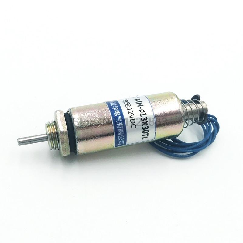 13X30TL толкающий трубчатый электромагнитный клапан, электромагнит, постоянный ток 12 в 24 В, ход 5 мм