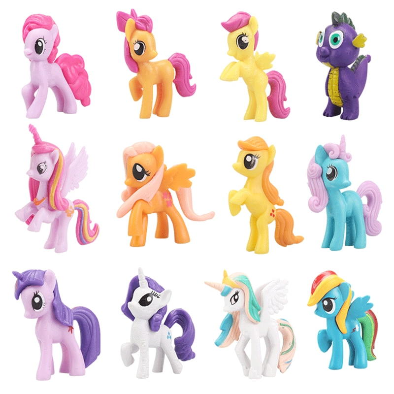 Mis pequeños muñecos de poni Mini juguete Twilight Sparkle Flutter princesa Shy Celestia muñecas coleccionables en miniatura para niñas