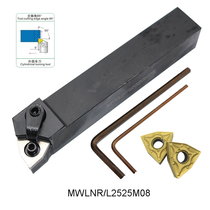 MWLNR2525M08 holder soporte de herramienta de torneado externo de alta calidad para WNMG080404 WNMG 080404