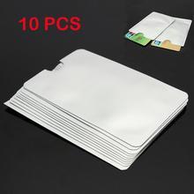 10 sztuk paszport bezpieczne uchwyt na rękaw zabezpieczenie przed kradzieżą RFID blokowanie Protector pokrywa z tworzywa sztucznego biały miękkie Trunk nie zamek karty Protector