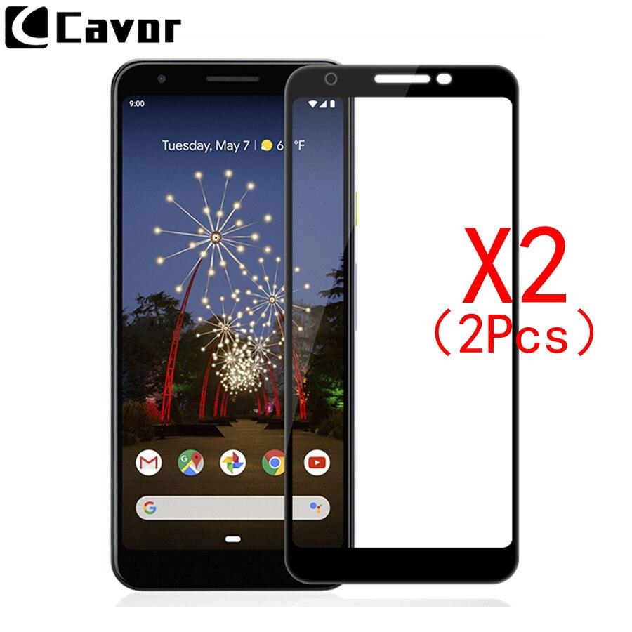 2 uds 9H vidrio templado para Google Pixel 3a XL funda cubierta completa de cristal accesorios de teléfono móvil película protectora de pantalla para Pixel 3a