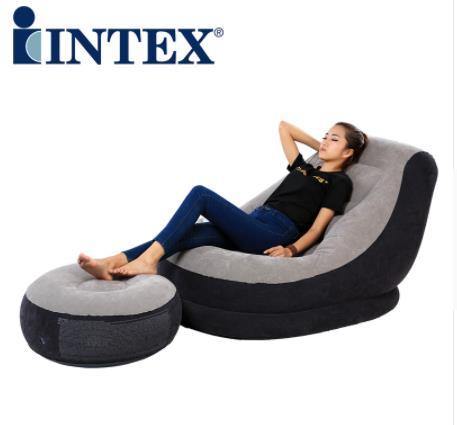 INTEX alta calidad plegable fuerte impermeable sofá hinchable cómodo Camping colchoneta inflable