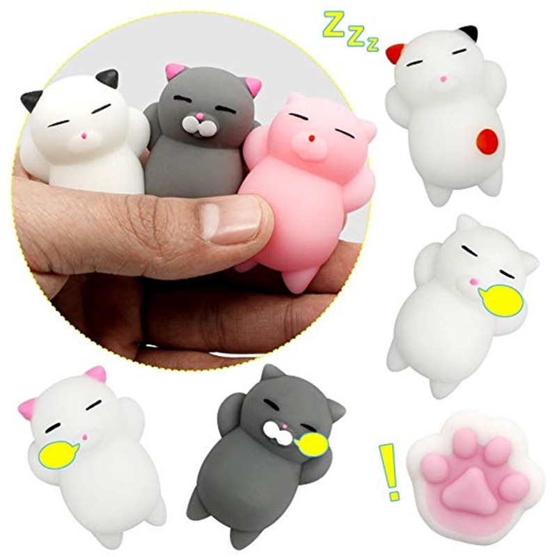 36pcs Dropshipping Cute Mochi Squishy Cat slow rising Squeeze Healing Fun Kids Kawaii kids Adult Toy Stress Reliever Decor enlarge
