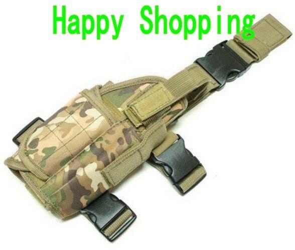 Tactical Drop Leg Pistol Holster Pouch Bag CP MULTICAM free shipping