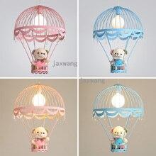 Cubs pendentif lumières Lustre salon chambre denfants suspension lampe fer Parachute enfants chambre luminaires décor de lampe à main