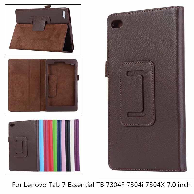 Чехол из искусственной кожи личи для Lenovo Tab 7 Essential TB-7304F TB 7304F 7304 7304i 7304X 7,0 'Tablet Case Bracket Flip Cover + pen