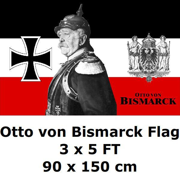 Prussian Otto von Bismarck Flag 3x5 футов 100D Полиэстеровые WWI немецкие флаги и баннеры для украшения дома