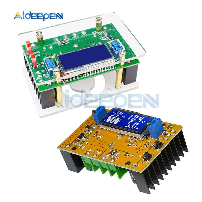 10A LCD Dual Display DC-DC Ajustável Step-down Power Module Abastecimento Buck Converter Regulador Transformador Com Caixa Transparente