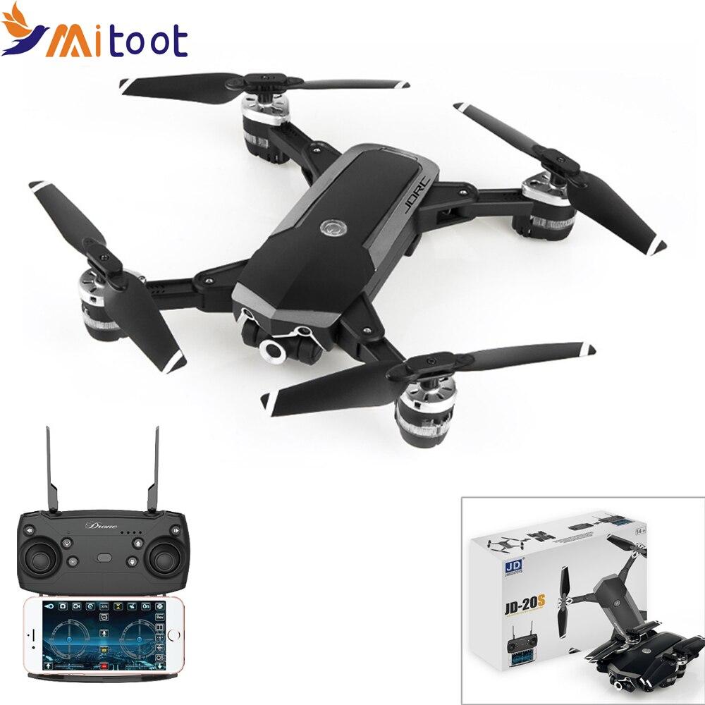 Mitoot JD-20S JD20S WiFi FPV Drone plegable 2MP cámara HD con 18 minutos de tiempo de vuelo RC Quadcopter RTF