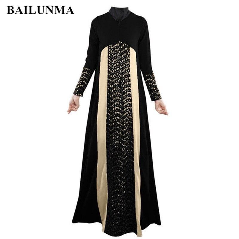 Moda 2020 ahueca hacia fuera la ropa islámica hiyab negro abaya vestido árabe para mujer ropa Malasia dubai abaya vestido B8020
