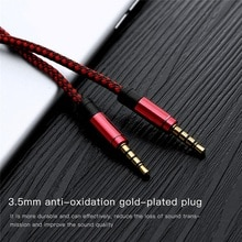 Universal Jack Aux Cable 3.5 mm to 3.5mm Audio Cable Male to Male Kabel Car Aux Cord for iphone Head