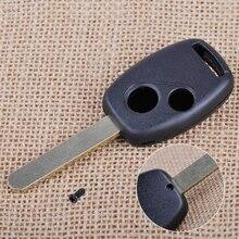 CITALL 2 boutons à distance clé porte-clés Shell remplacer lame non coupée pour Honda Civic Accord CR-V pilote 2006 - 2008 2009 2010 2011 2012