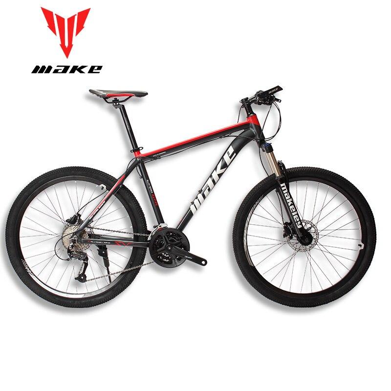 """Hacer marco de aluminio de bicicleta de montaña SHIMAN0 AItus 27 velocidad 26 """"27,5"""" 29 rueda hidráulica/freno mecánico MTB"""