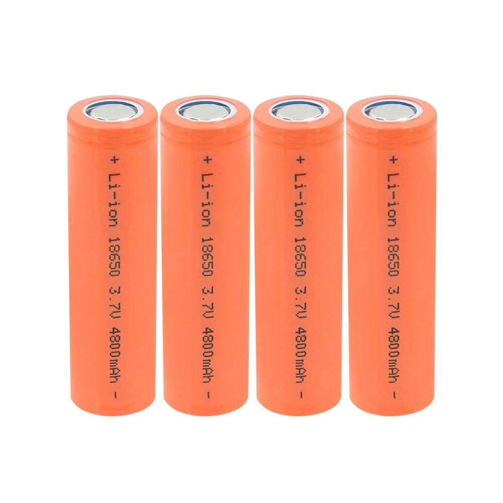 1-10PCS Novo 18650 Bateria Li-ion 3.7 v 4800 mah 18650 baterias de Células de Bateria De Lítio Recarregável Para Farol Lanterna Brinquedos