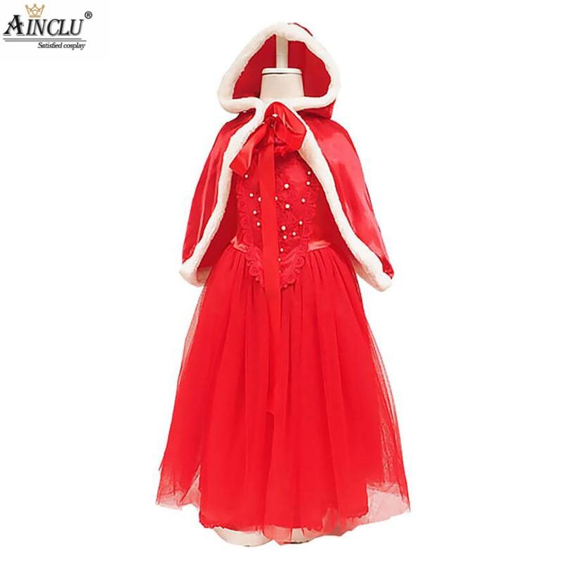 Vestido Rojo de Elsa para niña, ropa de Cosplay, disfraz de Elsa,...