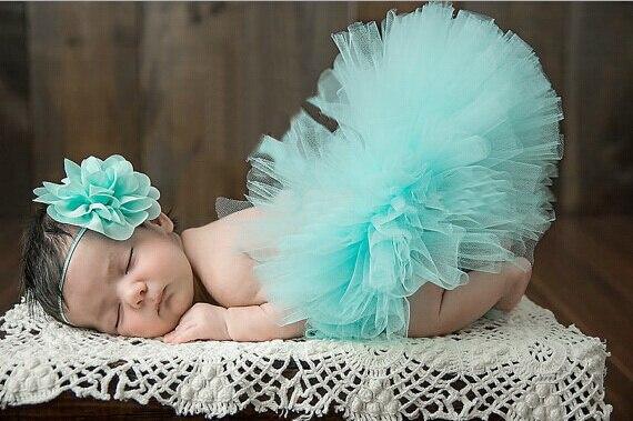 Princess Tutu Newborn Infant Tutu Skirt With Headbands Kids Baby Tutu Set for Photo Prop Fluffy Tulle Skirts For 0-1m or 3-4m