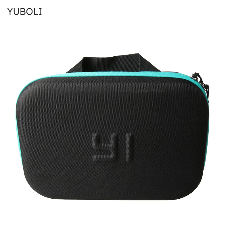 Bolsa de almacenamiento de cámara Yi Original impermeable de camuflaje EVA para Xiaomi Yi 4k + eken h9 + Gopro Hero 5 4 + SJCAM sj6 Accesorios