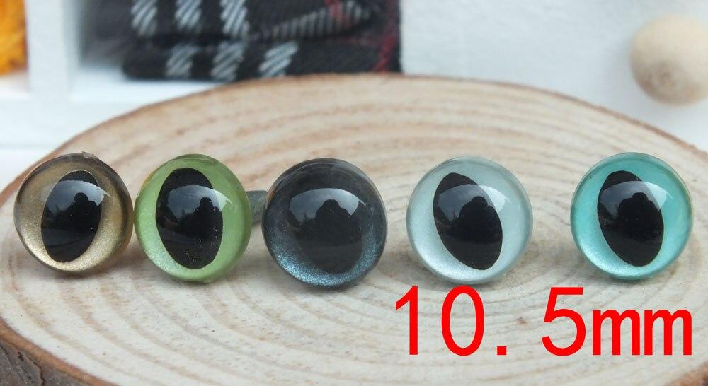 Доставка! 50 пар 10,5 мм Разноцветные защитные кошачьи глаза для валяных шерстяная кукла-1 пара каждого цвета