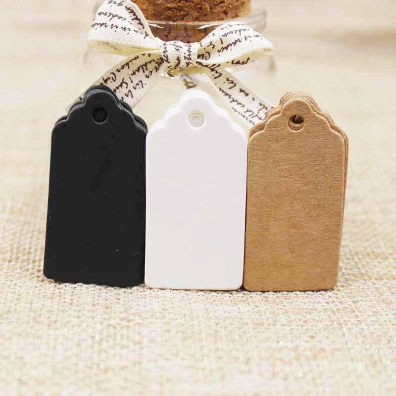 300 шт крафт/белый/черный картон 2*4 см пустые гребешки подарочные бирки продукты hant тег для DIY повесить этикетки поздравительные открытки ремесла