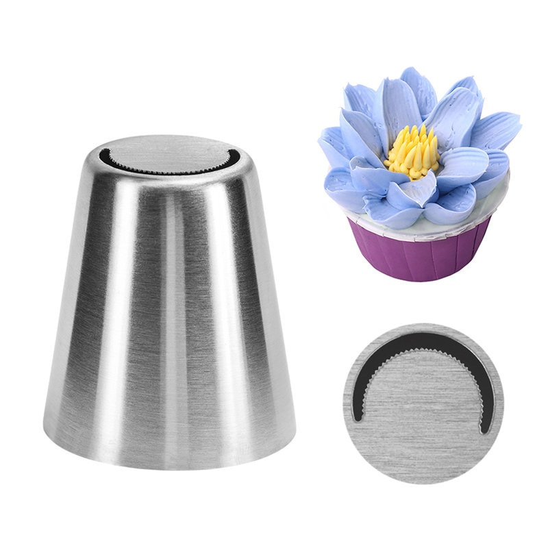 1 pieza de boquillas decorativas VOGVIGO para cupcakes, boquillas rusas para crema, boquillas de acero inoxidable para glaseado, herramientas de decoración de pasteles