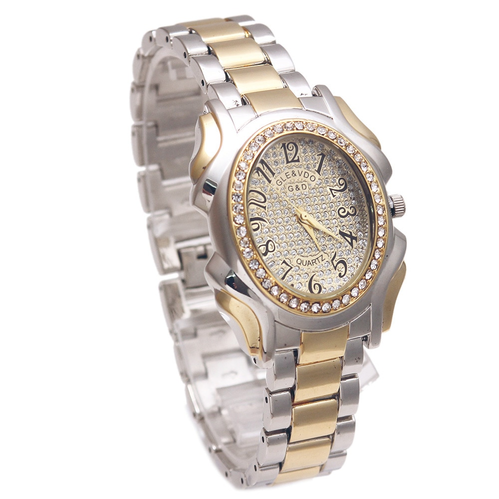 XQ001 Top Brand Luxury G&D Women Quartz Wristwatch Gold Stainless Steel Relojes Mujer Fashion Dress Watches Lady Bracelet Watch enlarge