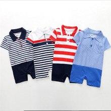 1-18M Newborn Baby Rompers short sleeve Clothing Infant Jumpsuits Cotton Children Bebe Boys Summer B