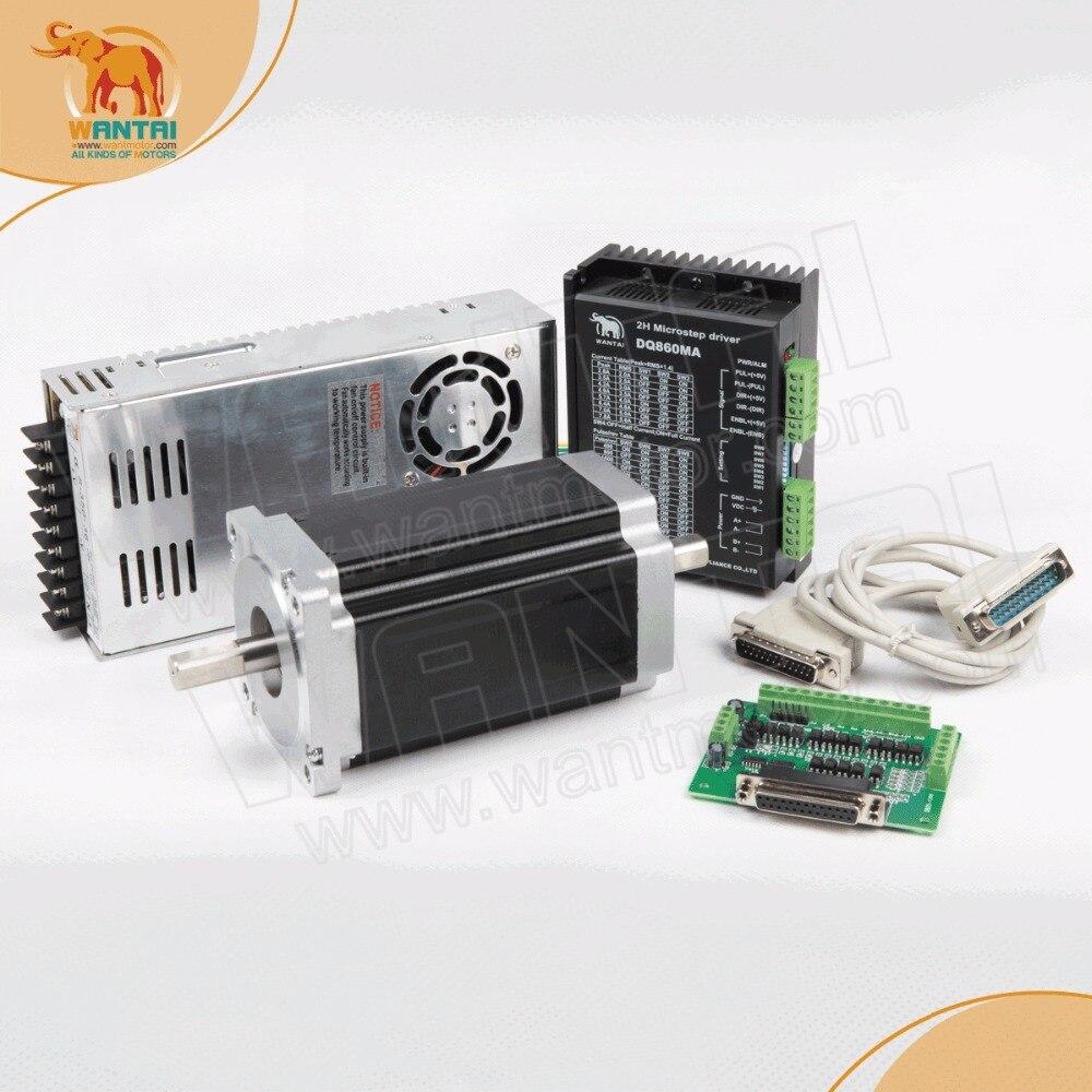 Nema34 moteur Stepper 1 axe   85BYGH450C-012B 1600oz-in + pilote DQ860MA 7.8A 80V 256, Micro-routeur, broderie