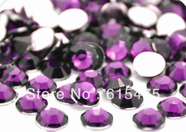 2mm tanzanite cor ss6 cristal strass resina flatback, arte do prego strass, 100,000 pçs/saco