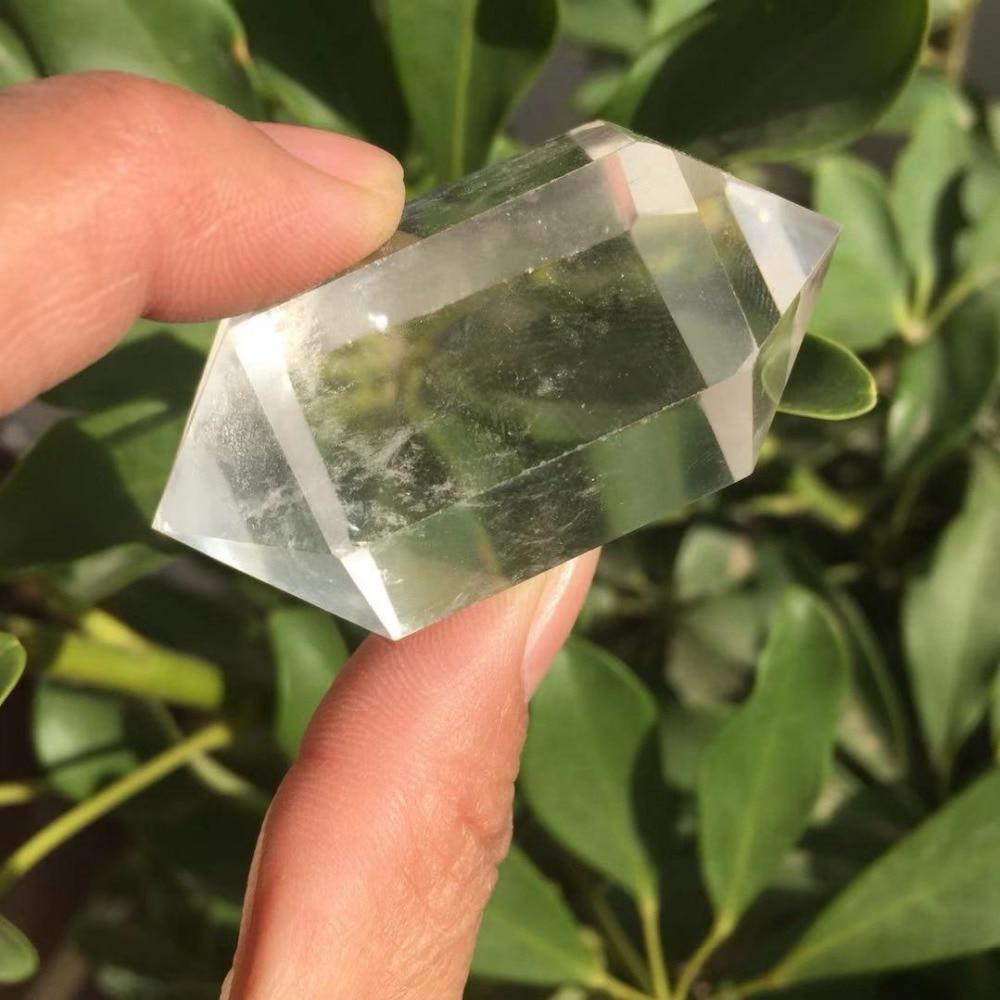 50g grueso natural claro cuarzo doble terminado Wand Rock Crystal generador de energía de la torre Reiki curativa cristal rejillas Charka