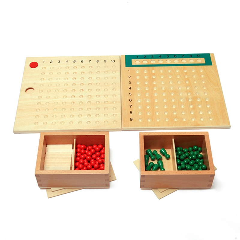 logwood baby wooden toys wooden block 26pcs learning educational toys for children animal words letter learn gifts for baby Wooden Montessori Toys Montessori Multiplication Bead Board Baby Learning Educational Toys for Toddlers For Children MI2564H