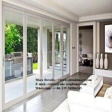 Listwa wytłaczana aluminiowa izolacja cieplna bi-fold drzwi, aluminiowe składane drzwi, drzwi skrzydłowe, szklarnia drzwi, drzwi wejściowe