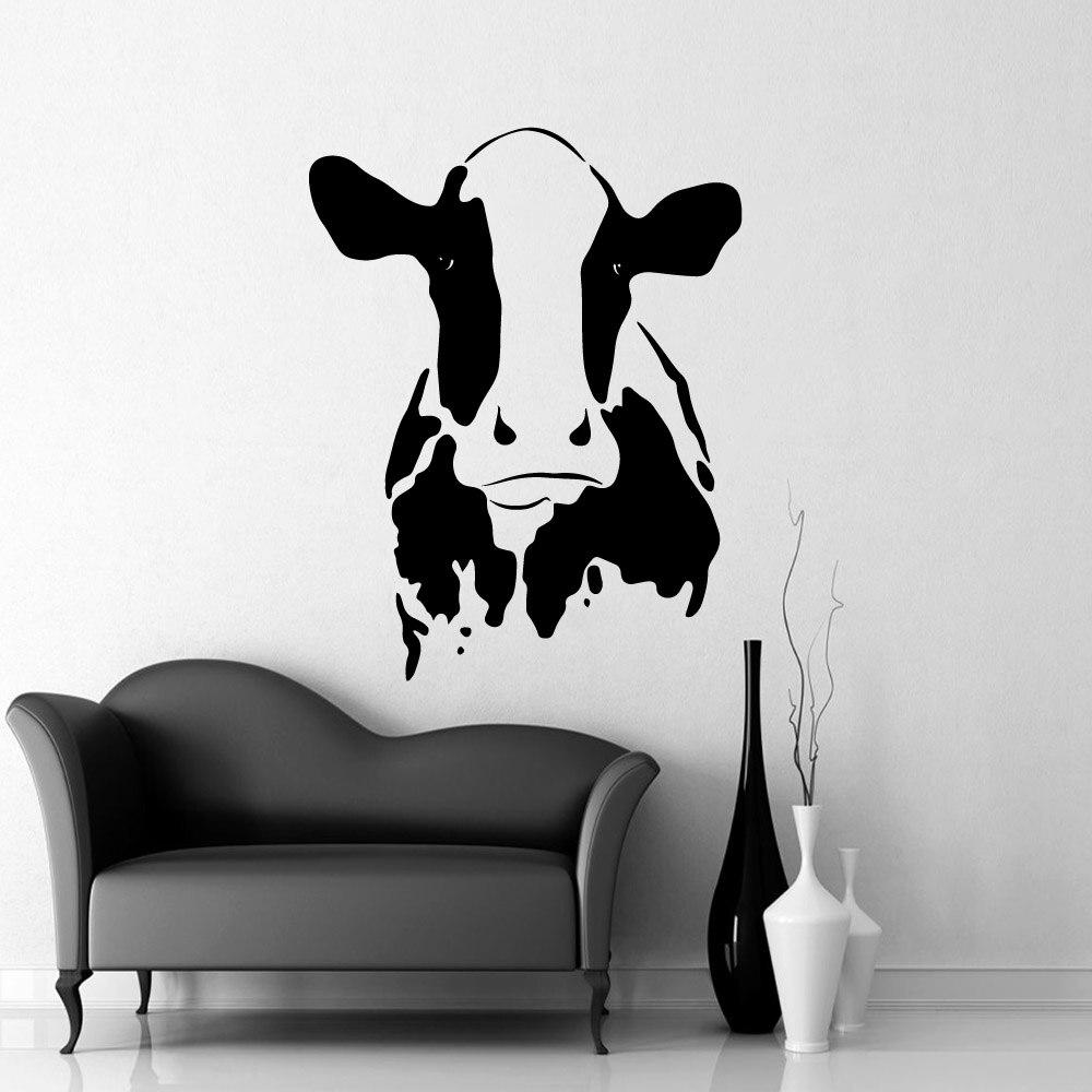 Creative Stickers Cow Decor Wall Decal For Kitchen Decor Vinyl Wall Sticker Cow Kids Room Decals Wallpaper muursticker