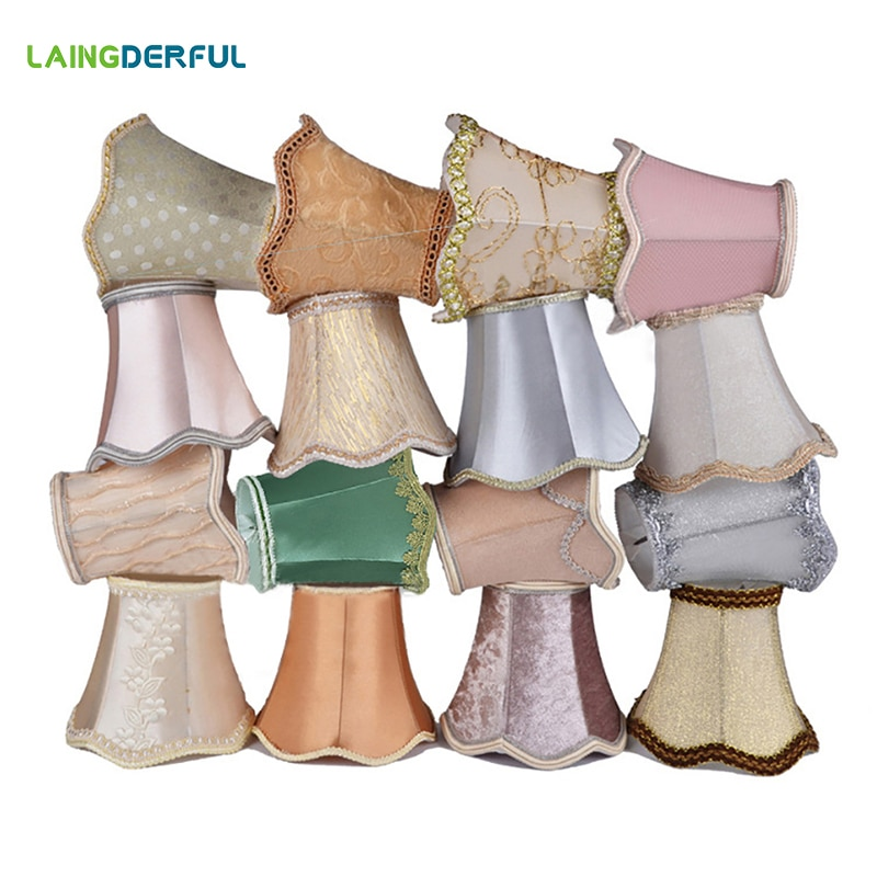 Волнистая лампа в стиле арт-деко, хрустальная люстра, настенная лампа, тканевый абажур, современный абажур для украшения дома