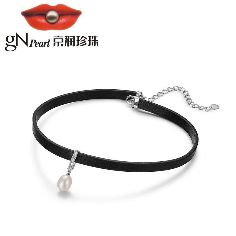 Gnperla collar chocker 925 Collar de plata cadena colgante estilo de diseñador punk moda joyería damas