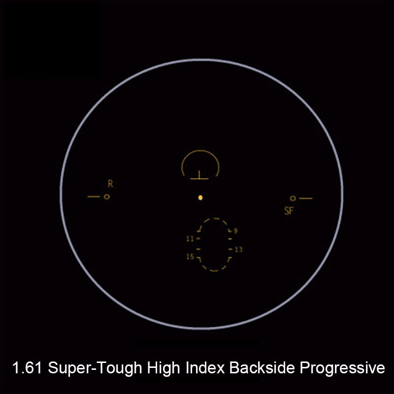 1.61 Super-Tough Digital Free Form Progressive No-Line Multi-Focal Prescription Customized Optical Lenses With AR Coating  2 Pcs