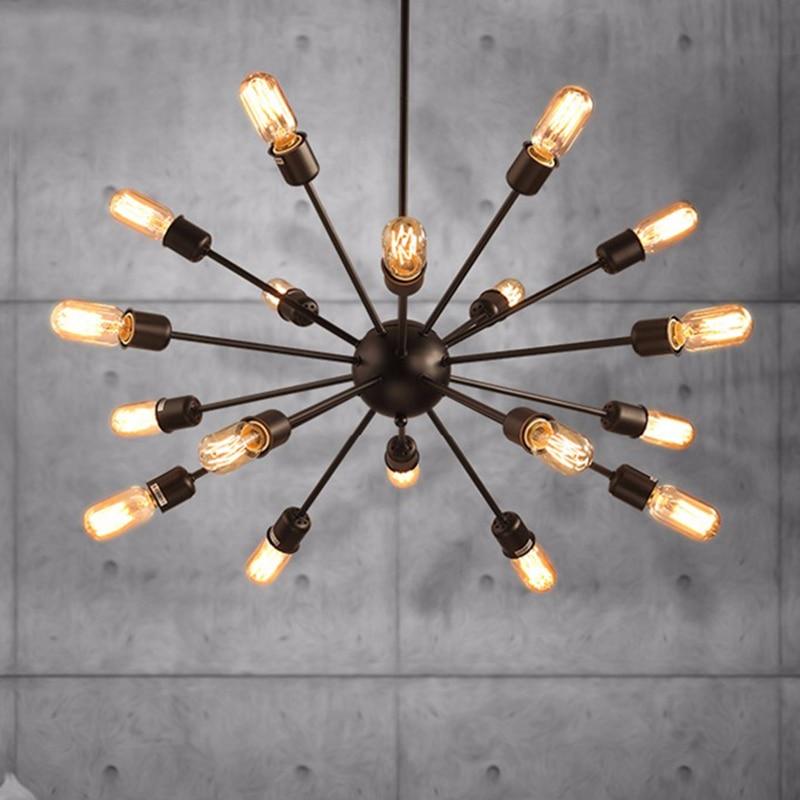Lámpara De Techo Estilo Vintage para el hogar, luces De diseño americano...