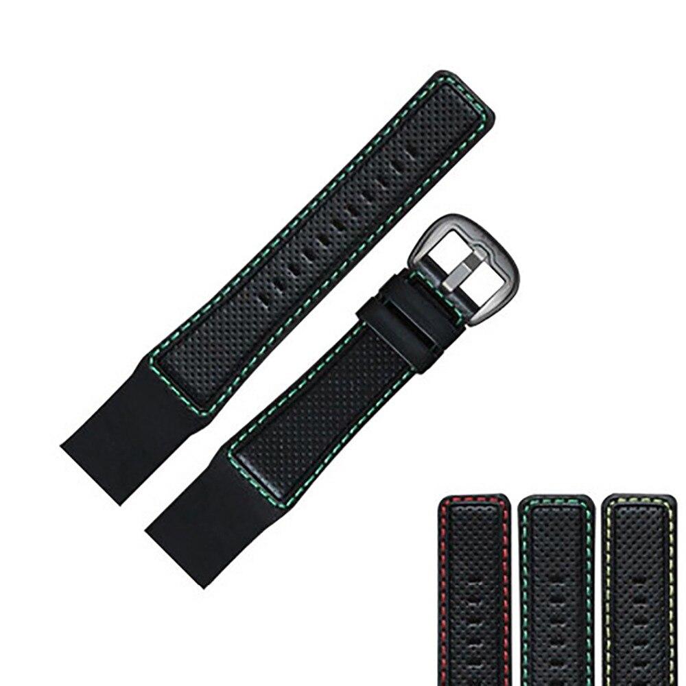 الشعاب النمر/RT ووتش الفرقة غايا ضوء 29 سنتيمتر الأسود جلدية ووتش حزام مع تانغ مشبك RGA90S7