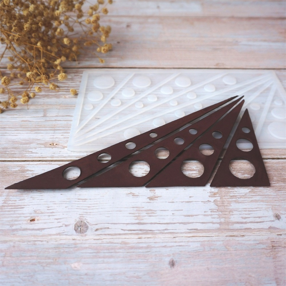 Múltiples combinaciones de triángulos antiadherentes de silicona molde de Chocolate moldes de hielo molde de pastel utensilios de hornear