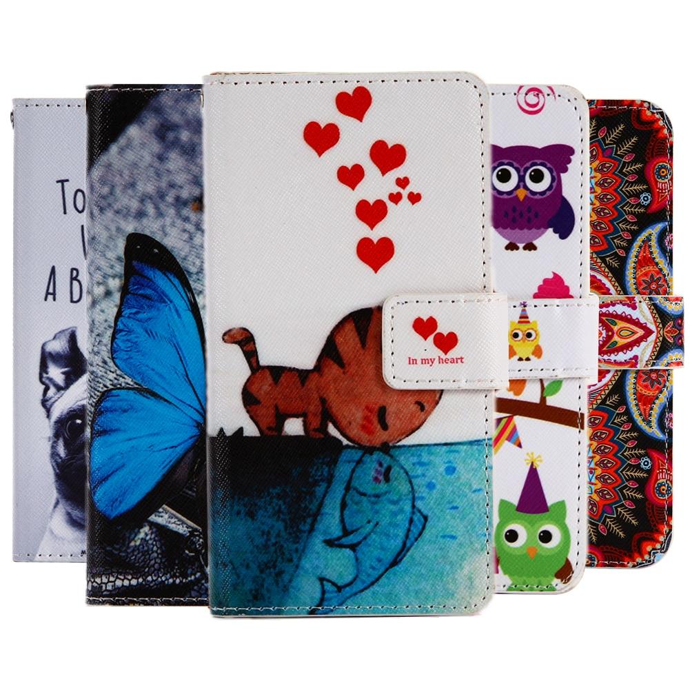 GUCOON, funda billetera de dibujos animados para Sharp Aquos B10, Funda de cuero PU A la moda, fundas bonitas geniales, bolsa para teléfono móvil