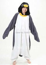 Nouveau adulte Animal gris pingouin Cosplay pyjamas Onesie vêtements de nuit Costume (robe de nuit)