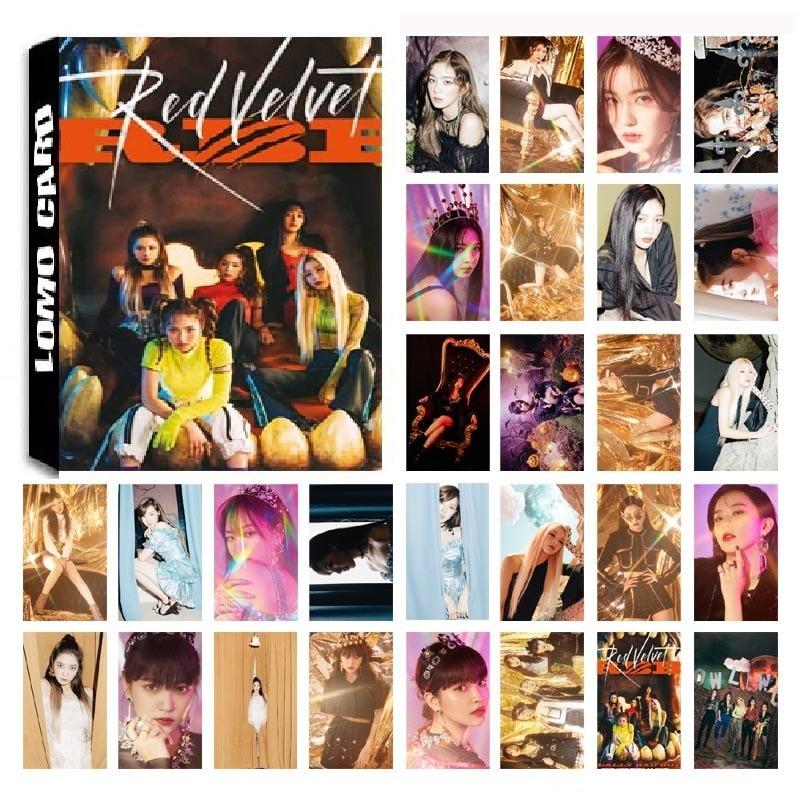 ¡Nuevo! 30 unids/set KPOP Red Velvet 04 álbum de fotos tarjetas de PVC tarjetas de auto hecho LOMO Card Photocard