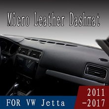 For vw Volkswagen Jetta MK6 A6 2011-2018 micro leather dashmat dashboard cover prevent sunlight pads dash mat 2016 2017 LHD+RHD