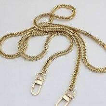 120 cm Zilver, goud 7mm Metalen Kettingen Schouderbanden voor Kleine Handtassen Portemonnees Tassen Strap Vervanging DIY Handvat Accessoires