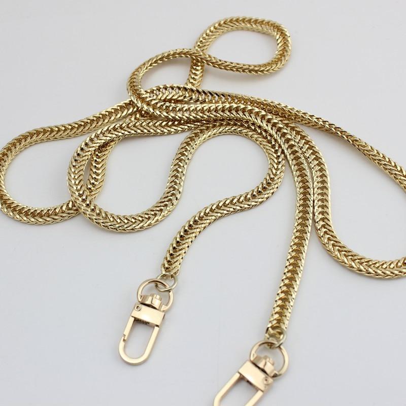 120cm plata, oro 7mm Cadenas de Metal correas de hombro para bolsos pequeños bolsos correa de reemplazo DIY accesorios de manija