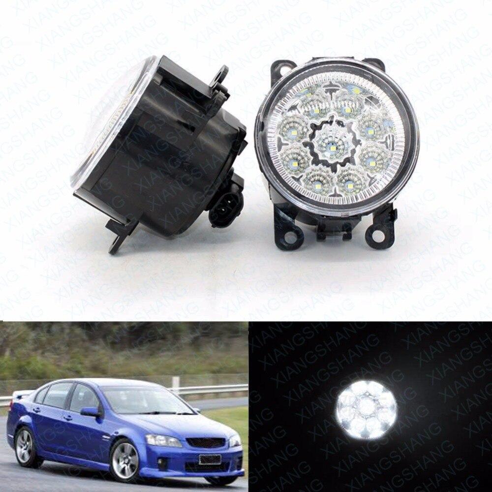 Luzes de nevoeiro da frente do diodo emissor de luz para holden commodore saloon (vz) 2004/09-2006/07 estilo do carro redondo pára-choques drl condução diurna