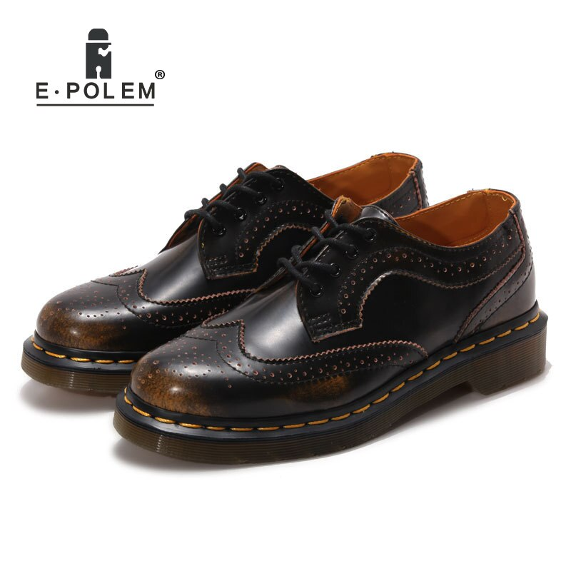 Genuine Leather Bullock Shoes Unisex Casual Leather Martin Boots Short Boots Outdoor Ankle Boots Oxford Shoes Men's Dress Shoes