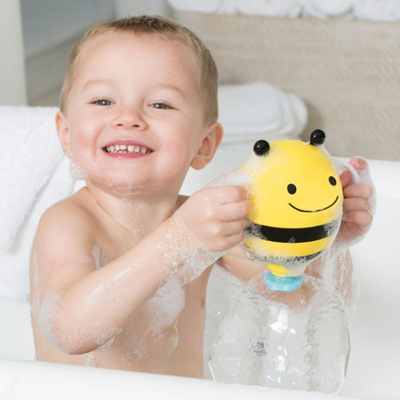 Cute Cartoon Plastic Mini Bee Baby Bath Toy Bathroom Water Fountain Shower Kids Bathtub Playing Tools