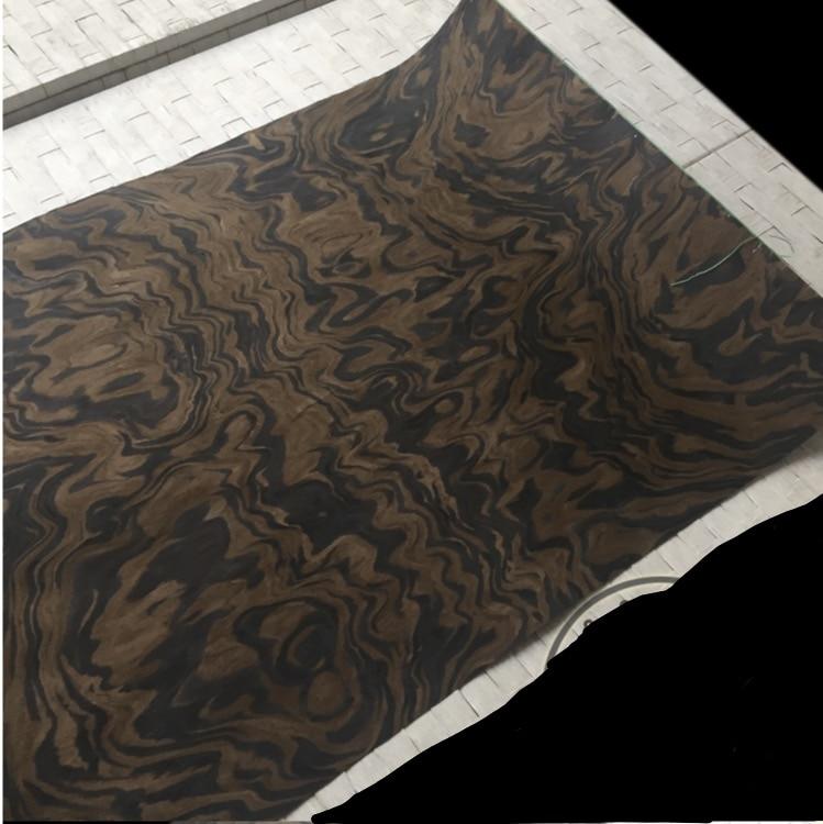 Length1.2Meters Thickness:0.22-0.3mm Width:55cm Technology Black Walnut Tree Burl Wood Veneer